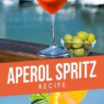 Aperol Spritz cocktail poolside in summer