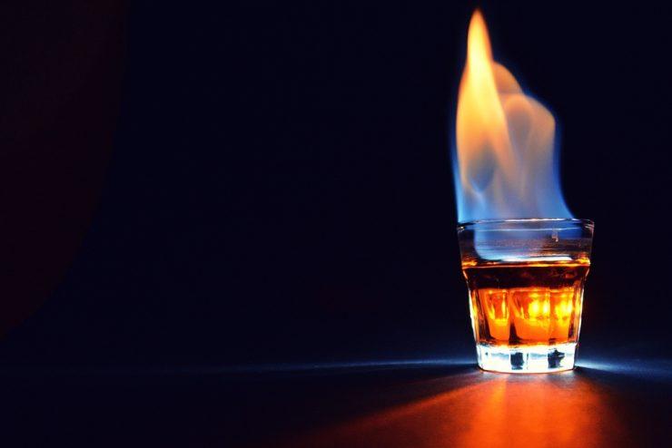 Flaming Dr. Pepper Shot