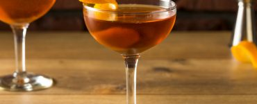 Martinez Cocktail With Gin, Vermouth And Orange Peel